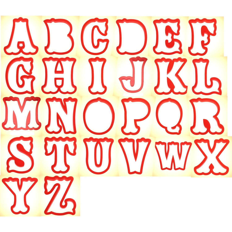 alphabet cookie cutter set 4 in pc0403