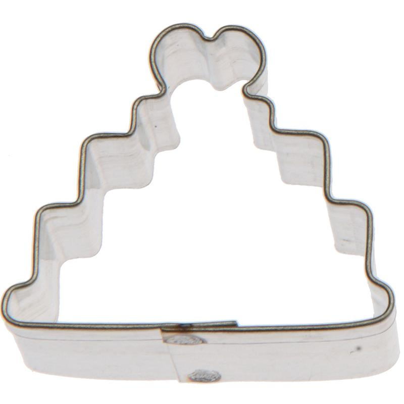 Exceptional Miniature Wedding Cake Cookie Cutter 1.25 In. M150