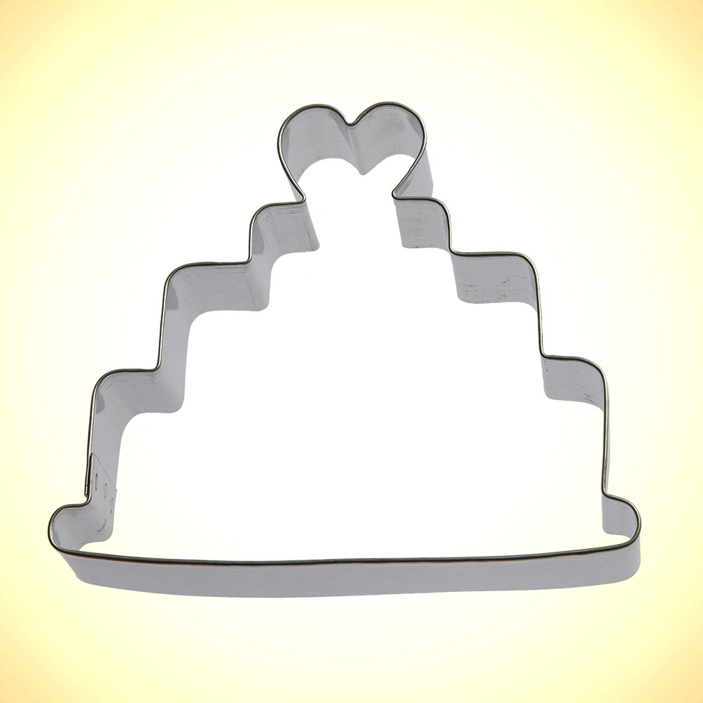 Wedding Cake Cookie Cutter 4 In B1345