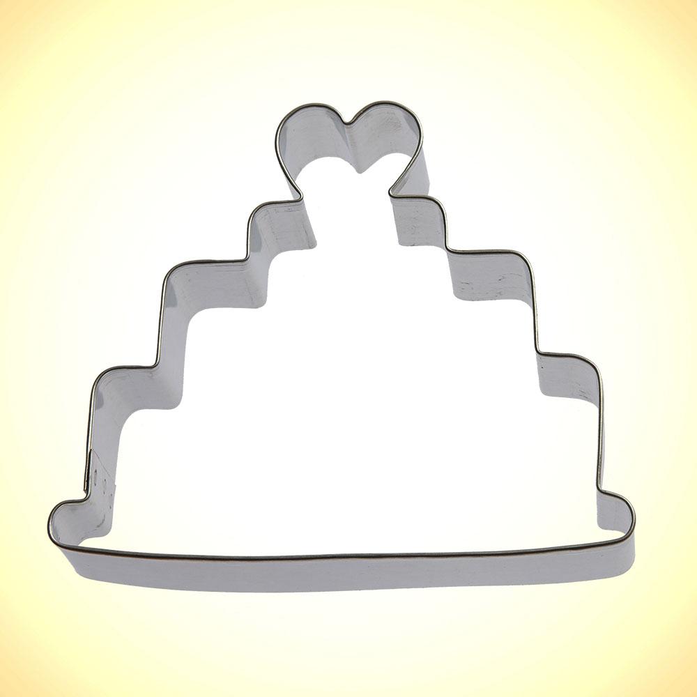 Wedding Cake Cookie Cutter 4 In B1345