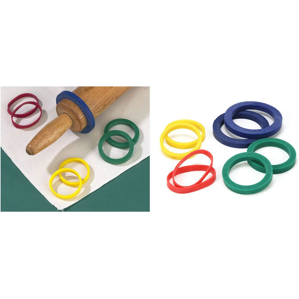Evendough rolling pin bands 4 sets of 2